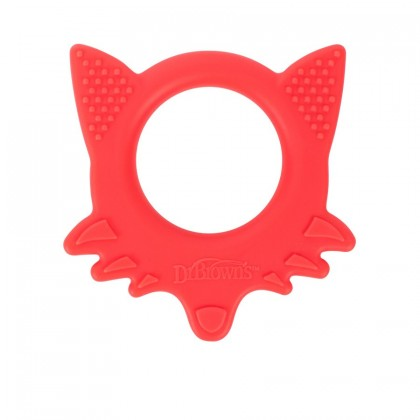 Dr Brown's Flexees Friends Teether (Elephant Blue/ Fox Red) 1pc