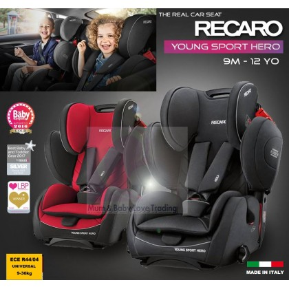Recaro Young Sport Hero High Back Booster Car Seat With Harness 9 36kg Racing Red Performance