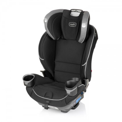 Evenflo EveryFit 4 in 1 Convertible Car Seat with Isofix Latch System & Breathable Air Fabric (Newborn till 54kg)- Olympus/ Sawyer/ Winston