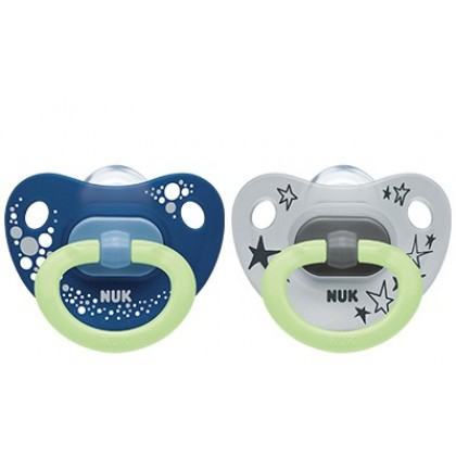 NUK Happy Nights Silicone Soother 2pcs (6-18 Months)