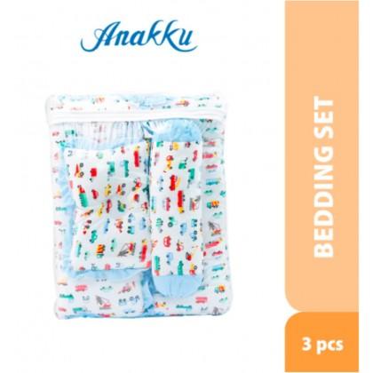 Anakku 3pcs Baby Bedding Set ( Mattress + Pillow + Bolsters Set ) (Car)
