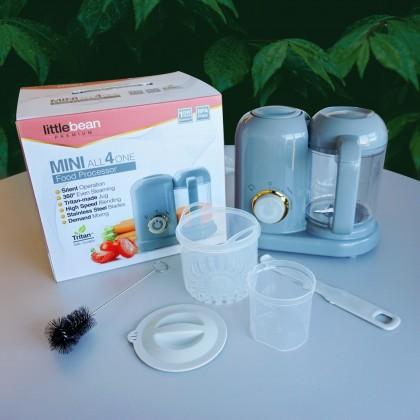 Little Bean Premium MINI All-4-One Baby Food Processor (Steamer & Blender) + Free Gift