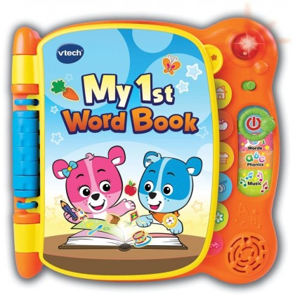 Vtech My First Word Book (18 months+) - Touch & Teach Words, Phonics & Music