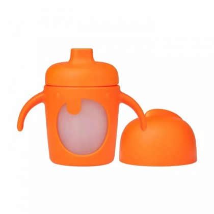Boon Modster Soft Silicone Spout Sippy Cup 7oz 6Months+ (Orange)