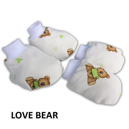 Bumble Bee Premature Mittens & Bootees Set (Knit Fabric)