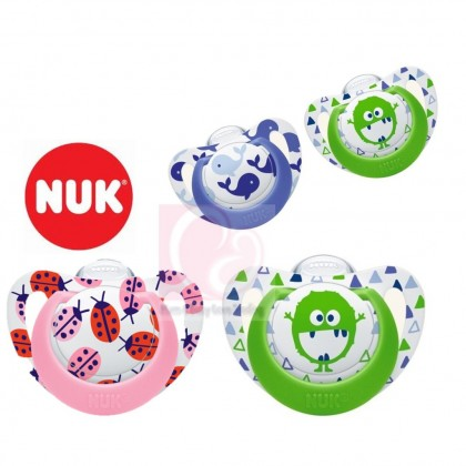 NUK Genius Silicone Soother 2pcs (0-6 Months/ 6-18 Months)